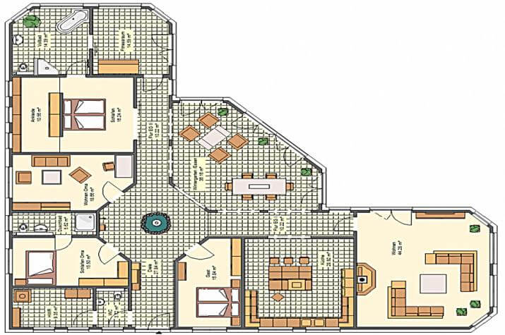 Variocorner 282 hse massivhaus gmbh beratungsb ro for Optimaler grundriss einfamilienhaus