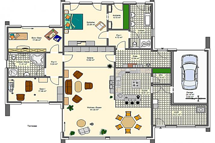 Variocorner259 hse massivhaus gmbh beratungsb ro ehingen for Optimaler grundriss einfamilienhaus