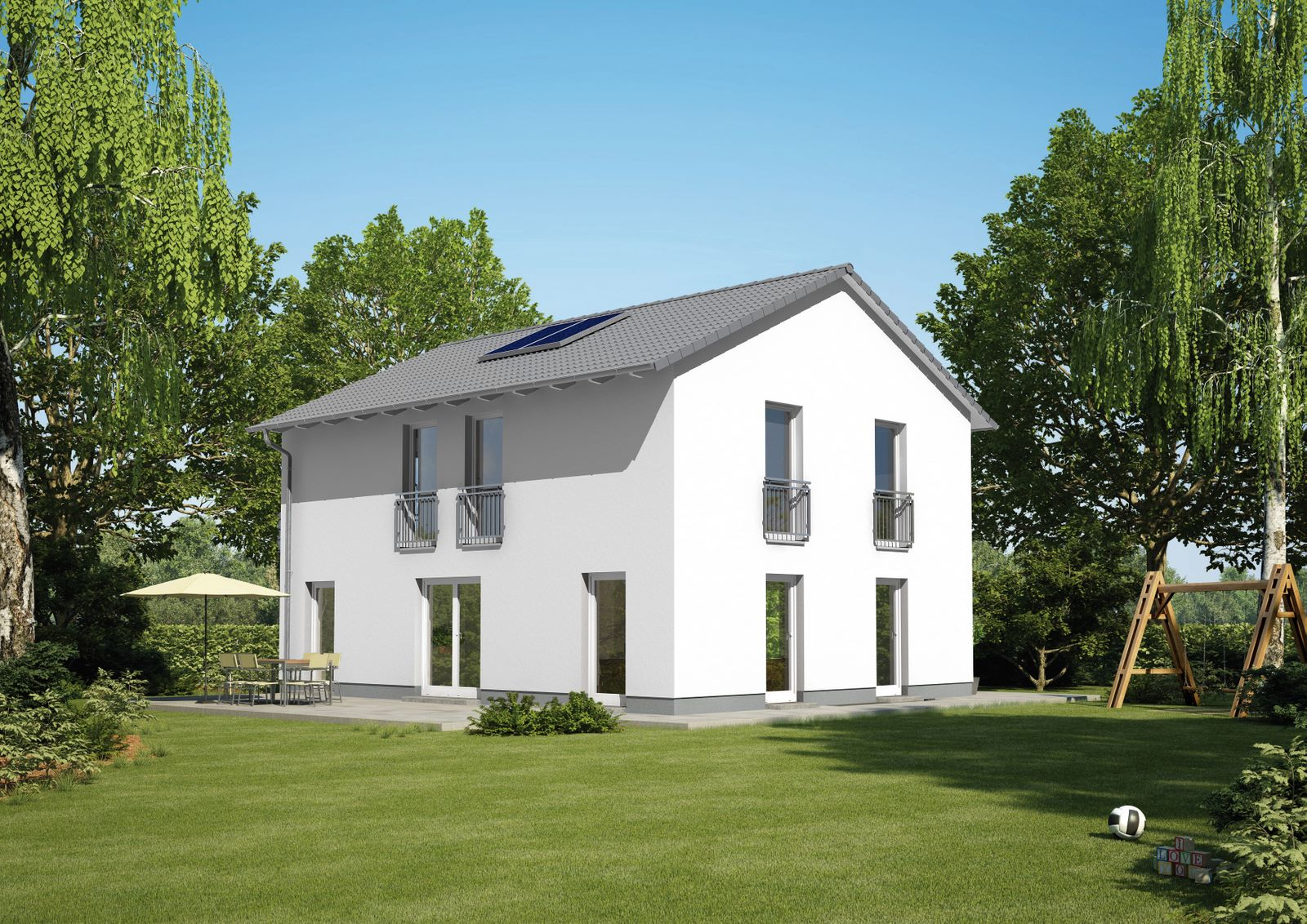 Vialla 166 var 1 energiesparhausplus for Grundriss einfamilienhaus 2 vollgeschosse