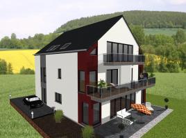 Vierfamilienhaus in moderner Architektur- www.jk-traumhaus.de