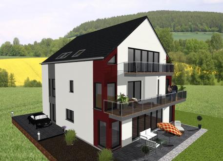 Zweifamilienhaus Vierfamilienhaus in moderner Architektur- www.jk-traumhaus.de