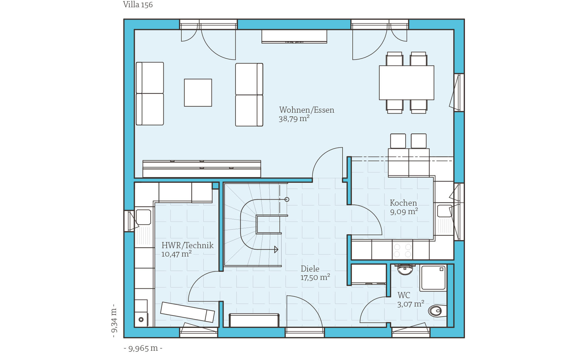 villa 156 hanse haus gmbh. Black Bedroom Furniture Sets. Home Design Ideas