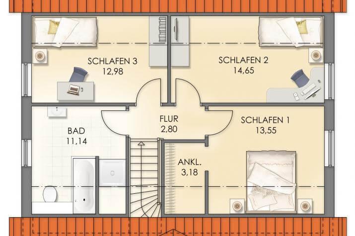 Villa Hanna Knudsen - Grundriss Dachgeschoss