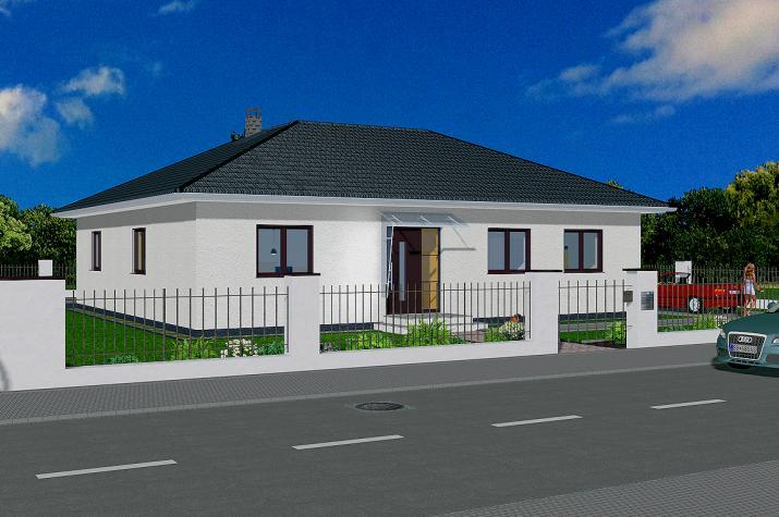 Winkelbungalow 129 qm Wohnfläche - Winkelbungalow 129 qm Ansicht Strasse rechts