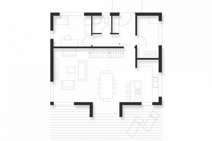 Wohnhaus | WH1 | 152 qm | KfW55 - EG