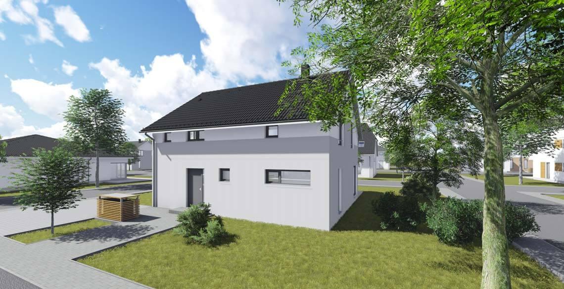 wohnhaus typ 1 mit 152 qm br uer architekten rostock. Black Bedroom Furniture Sets. Home Design Ideas
