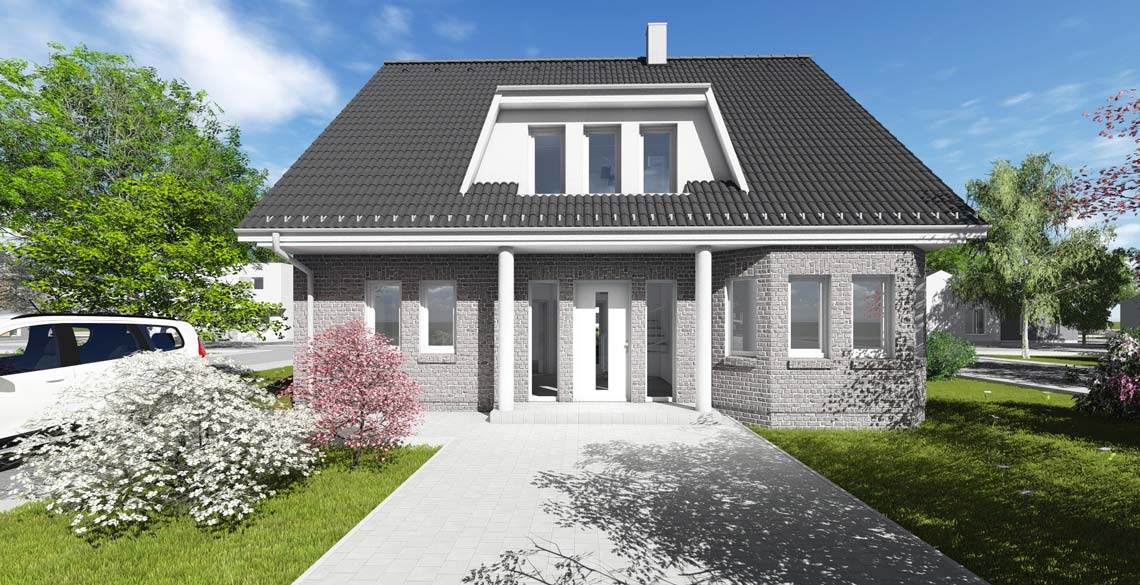 wohnhaus typ 2 mit 173 qm br uer architekten rostock. Black Bedroom Furniture Sets. Home Design Ideas