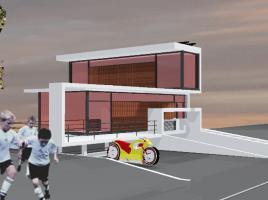 Wohnhausskulptur - Designstudie