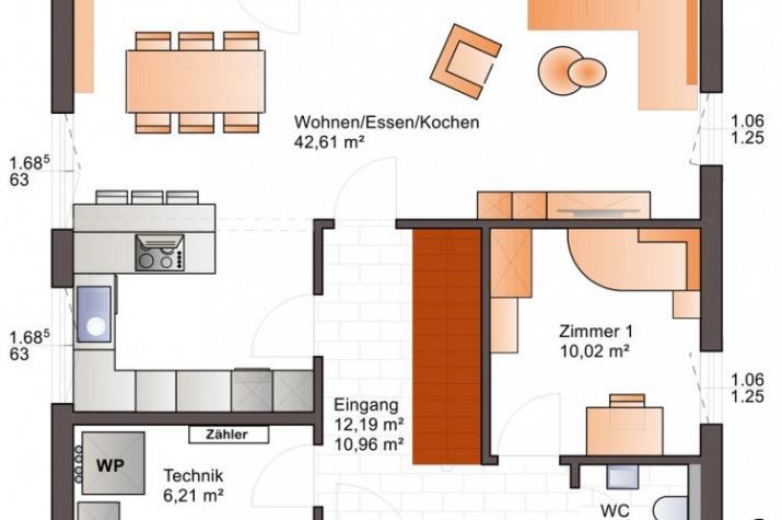 Young Family 141 mit Unterbau Bodenplatte, inkl. Rollos elektrisch mit Steuerung - Erdgeschoß
