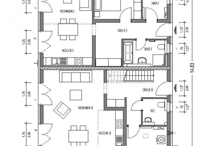 Zweifamilienhaus 880 in NRW und Hessen - EG