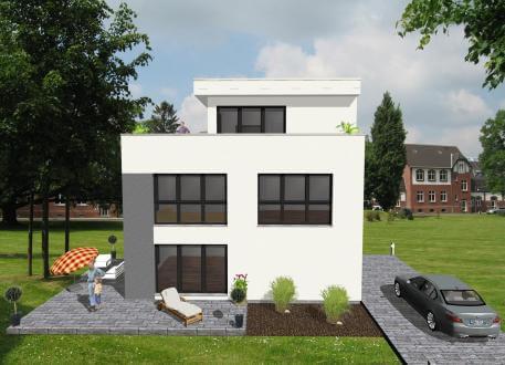 Einfamilienhaus ...individuell geplant ! - Bauhaus mit Staffelgeschoss - www.jk-traumhaus.de