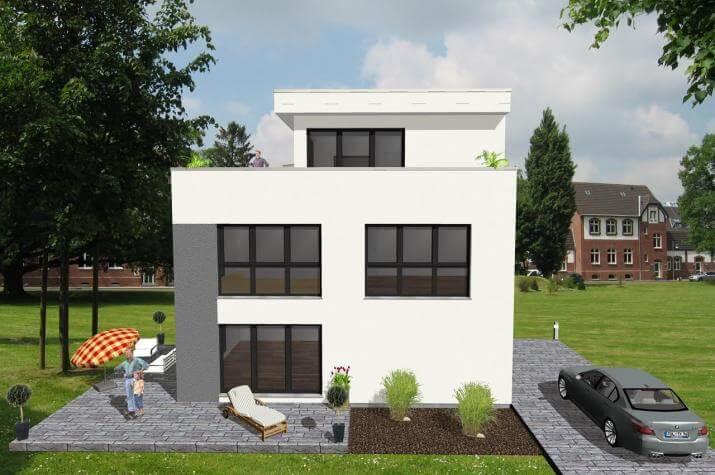 ...individuell geplant ! - Bauhaus mit Staffelgeschoss - www.jk-traumhaus.de -