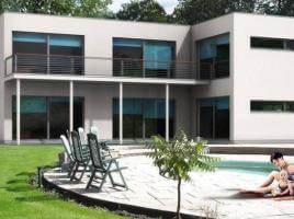 ...individuell geplant ! - Bauhausvilla mit klaren Formen und großzügigen Fensterflächen - www.jk-traumhaus.de