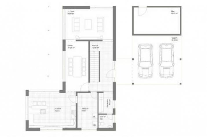 Individuell geplant bauhausvilla mit klaren for Haus formen