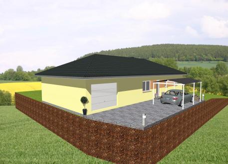 Einfamilienhaus ...individuell geplant ! - Bungalow mit integrierter Garage - www.jk-traumhaus.de