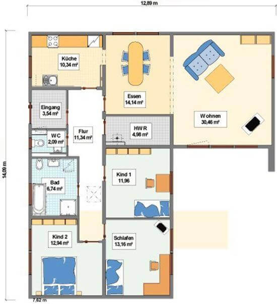 Bungalow mit integrierter doppelgarage  ᐅ ...individuell geplant ! - Bungalow mit integrierter Garage und ...