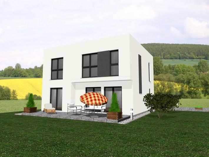individuell geplant dezent aufgewerteter kubus mit familienfreundlicher raumaufteilung. Black Bedroom Furniture Sets. Home Design Ideas