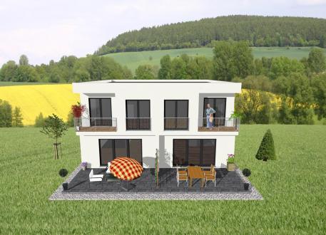 Zweifamilienhaus ...individuell geplant ! - Doppelhaus im Bauhausstil - www.jk-traumhaus.de