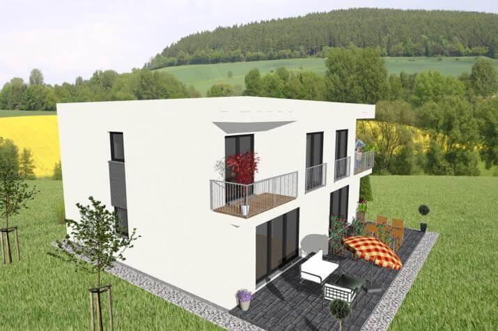 Individuell geplant doppelhaus viel platz und for Zweifamilienhaus bauhausstil