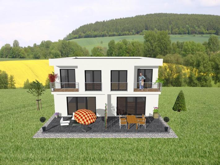Individuell geplant doppelhaus viel platz und for Doppelhaus oder zweifamilienhaus