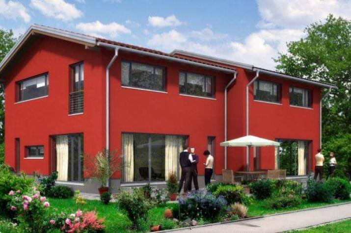 Moderne doppelhäuser pultdach  ᐅ Doppelhaus bauen | 94 Doppelhäuser mit Grundrissen und Preisen