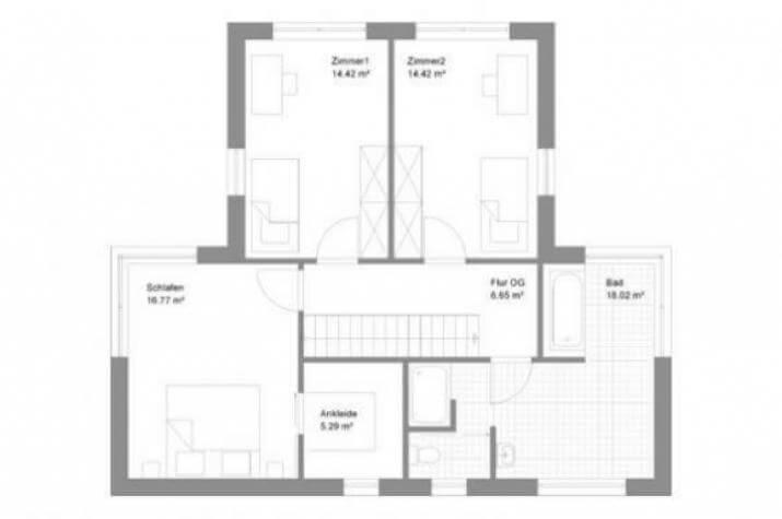 Individuell geplant einfamilienhaus geschickt for Einfamilienhaus flachdach grundriss
