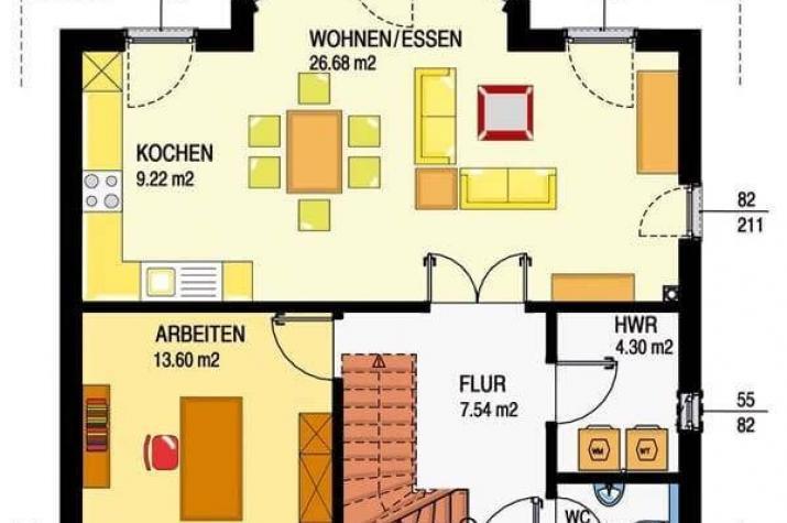 Individuell geplant einfamilienhaus modernes for Optimaler grundriss einfamilienhaus