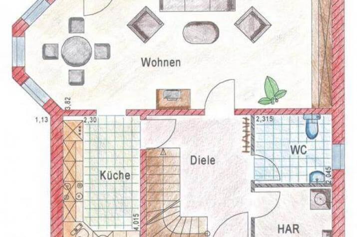 ...individuell geplant ! - Einfamilienhaus mit Erker und Balkon - www.jk-traumhaus.de - grundriss eg