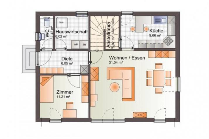 ᐅ Individuell Geplant Einfamilienhaus Mit Zwerchgiebel