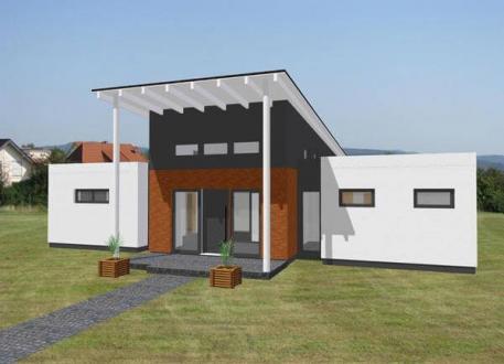 ...individuell geplant ! - Futuristischer Bungalow in bauhausähnlicher Architektur - www.jk-traumhaus.de