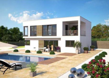 Einfamilienhaus ...individuell geplant ! - Futuristisches Bauhaus mit Loggia für grenzenlosen Wohngenuss - www.jk-traumhaus.de