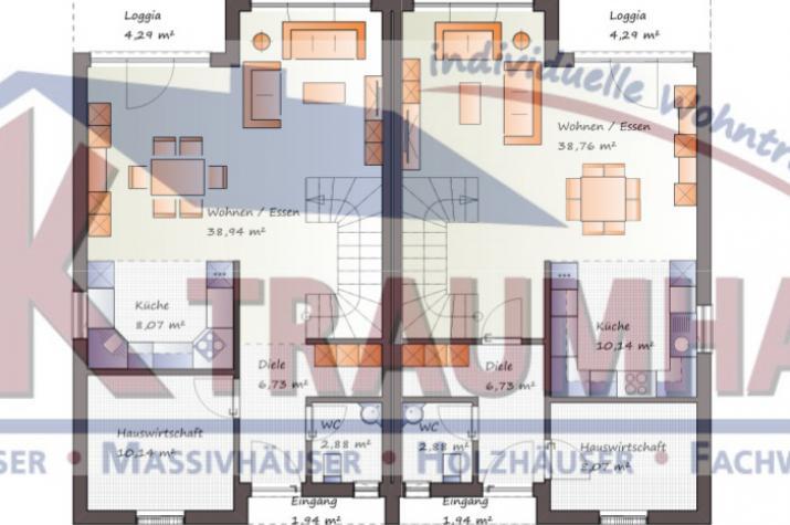individuell geplant futuristisches pultdach doppelhaus jk traumhaus. Black Bedroom Furniture Sets. Home Design Ideas
