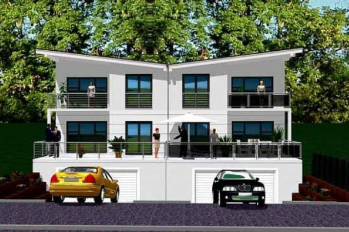 ᐅ Doppelhaus bauen | 94 Doppelhäuser mit Grundrissen und Preisen