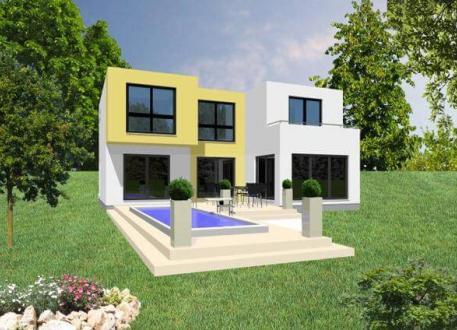 Designerhaus ...individuell geplant ! - Grenzenloser Wohngenuss in klarer Kubusarchitektur - www.jk-traumhaus.de