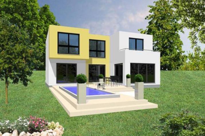 ...individuell geplant ! - Grenzenloser Wohngenuss in klarer Kubusarchitektur - www.jk-traumhaus.de -