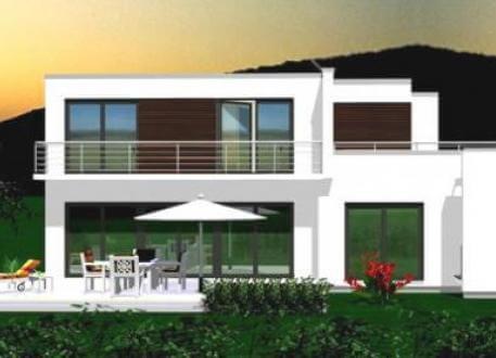 ...individuell geplant ! - Großzügige Villa im Bauhausstil mit integrierter Garage und Dachterrasse - www.jk-traumhaus.de
