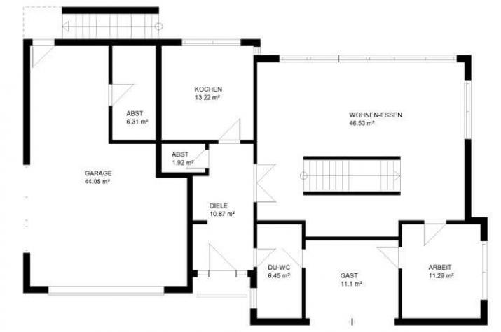 individuell geplant gro z gige villa im bauhausstil mit integrierter garage und. Black Bedroom Furniture Sets. Home Design Ideas