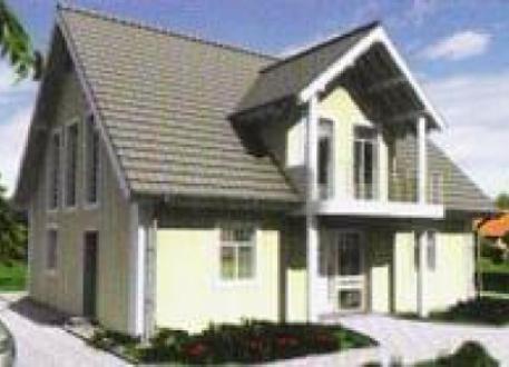 Holzhaus ...individuell geplant ! - Großzügiges Einfamilienhaus mit villenartigen Stilelementen - www.jk-traumhaus.de