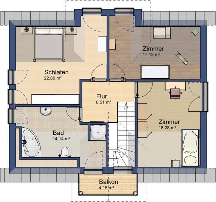 individuell geplant gro z giges einfamilienhaus mit villenartigen stilelementen www. Black Bedroom Furniture Sets. Home Design Ideas