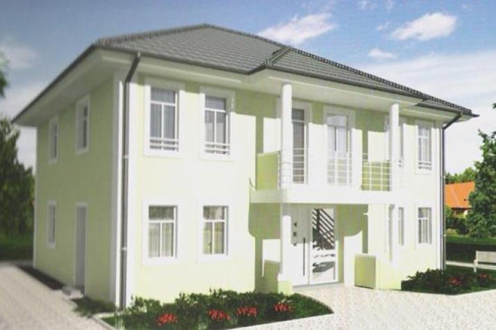 individuell geplant herrschaftliches stadthaus mit imposantem eingangsportal. Black Bedroom Furniture Sets. Home Design Ideas