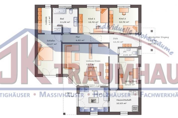 ...individuell geplant ! - Hübscher Winkelbungalow  - www.jk-traumhaus.de -