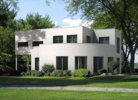 Einfamilienhaus ...individuell geplant ! - Interessante Bauhausvilla mit außergewöhnlichen Formen - www.jk-traumhaus.de