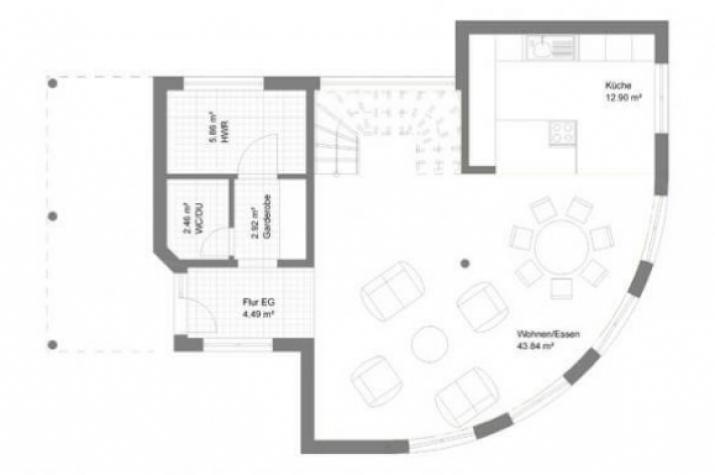 ...individuell geplant ! - Interessante Bauhausvilla mit außergewöhnlichen Formen - www.jk-traumhaus.de - Grundriss EG