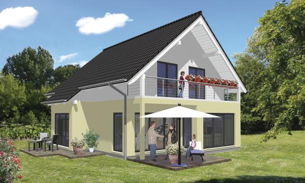 individuell geplant klassisches einfamilienhaus mit modernen details. Black Bedroom Furniture Sets. Home Design Ideas