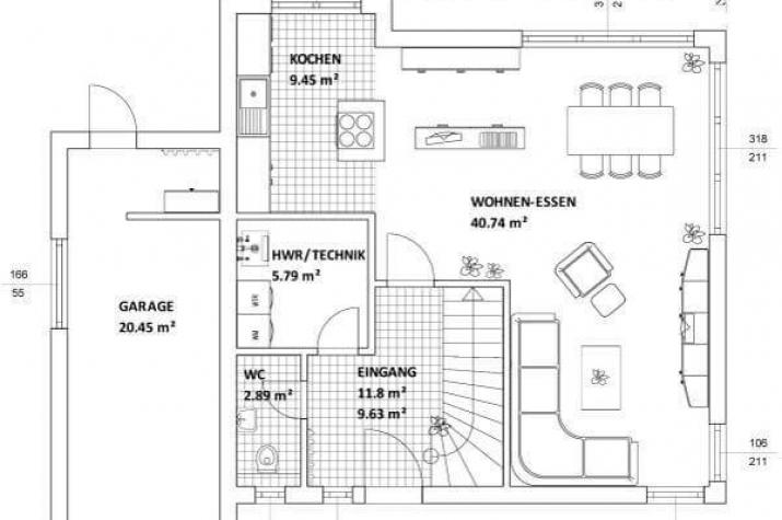 Individuell geplant kompaktes bauhaus mit garage for Bauhaus einfamilienhaus grundriss