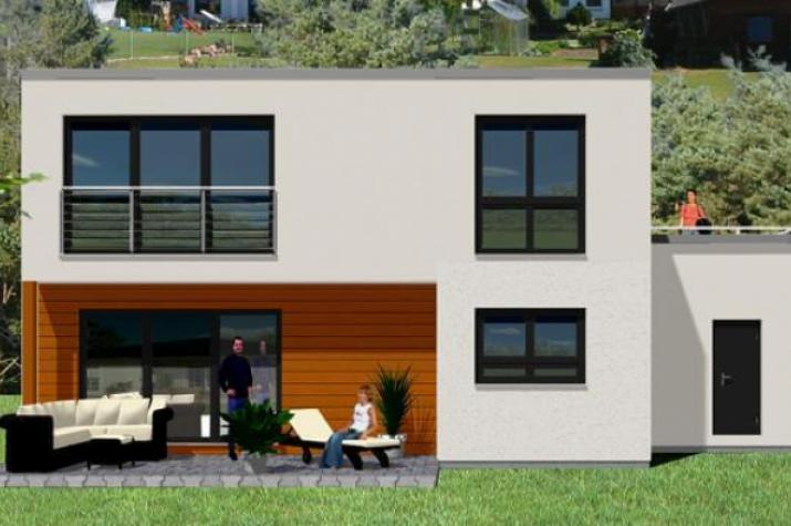 ᐅ Individuell Geplant Kompaktes Bauhaus Mit Garage Und
