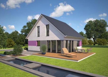 Holzhaus ...individuell geplant ! - Kompaktes Haus mit Charme und lichtdurchflutetem Ambiente - www.jk-traumhaus.de