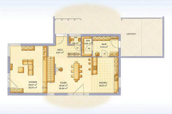 Kubische Villa Im Bauhausstil Mit Dachterrasse Und Doppelcarport