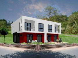 ...individuell geplant ! - Kubisches Doppelhaus in Bauhausoptik - markant und modern mal zwei  - www.jk-traumhaus.de
