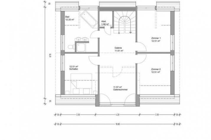 Individuell geplant lichtdurchflutetes modernes for Modernes einfamilienhaus grundriss